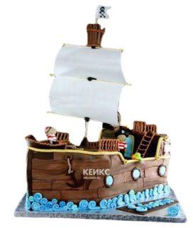 Торт Пиратский корабль 7