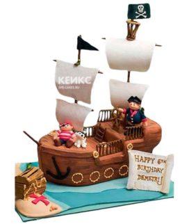 Торт Пиратский корабль 8