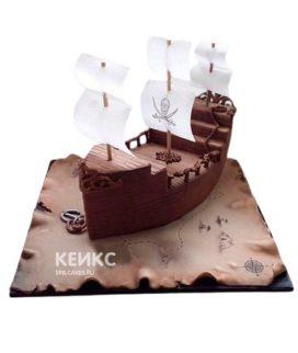 Торт Пиратский корабль 9