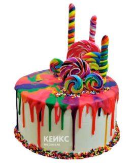 Торт Радужный 10