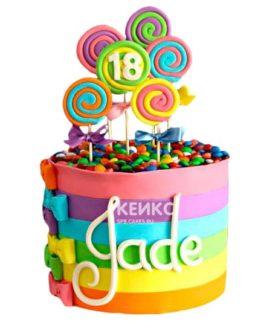 Торт Радужный 12