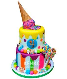 Торт Радужный 15