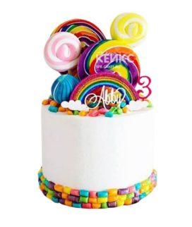 Торт Радужный 8