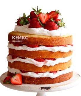 Торт с клубникой 6
