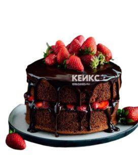 Торт с клубникой 7