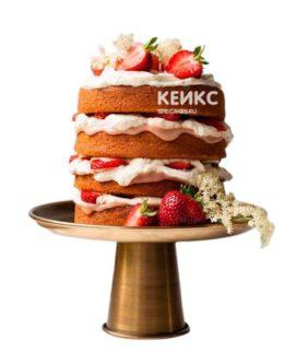 Торт с клубникой 9