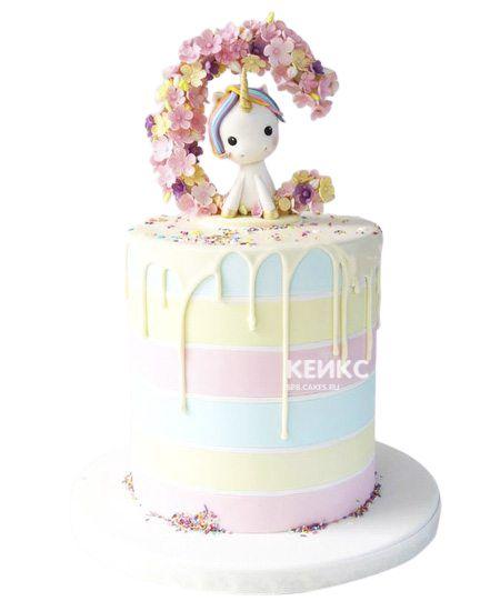 Необычный Детский торт для девочки 3