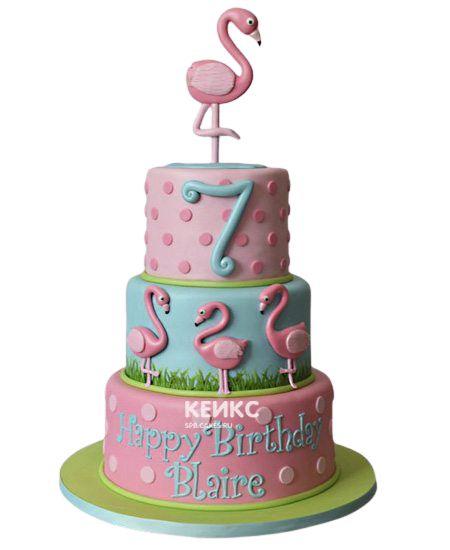 Необычный Детский торт для девочки 6
