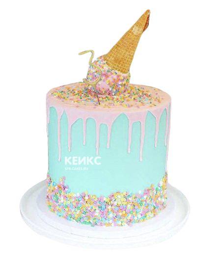 Необычный Детский торт для девочки 7