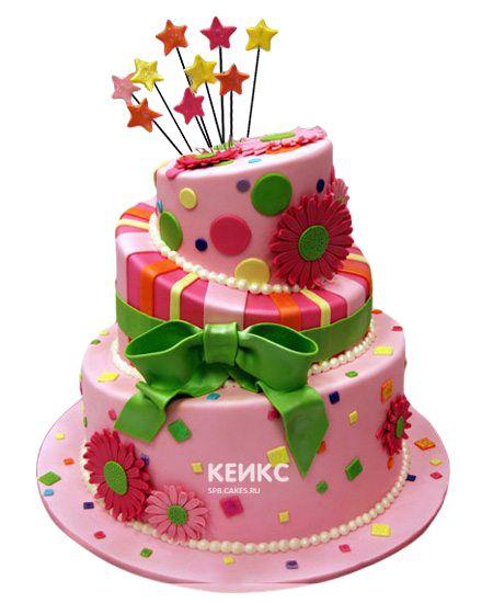 Необычный Детский торт для девочки 8