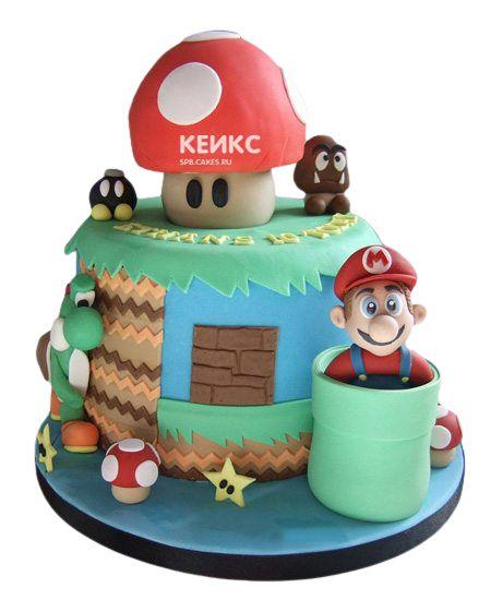Необычный Детский торт для мальчика 4