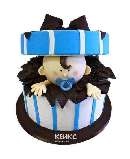 Необычный Детский торт для мальчика 5