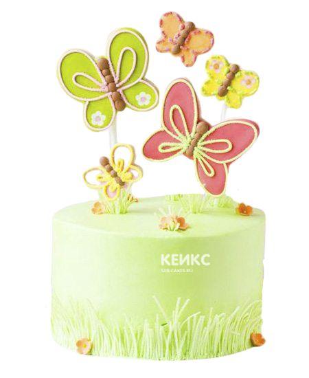 Торт Бабочки и Цветы 4