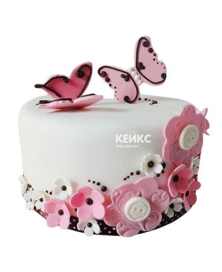 Торт Бабочки и Цветы