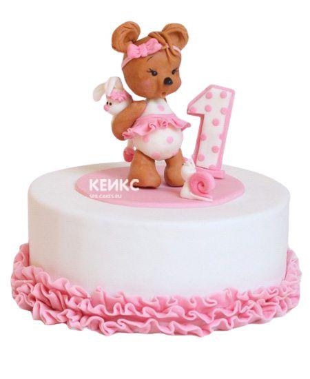 Торт для девочки на месяц и 40 дней 13