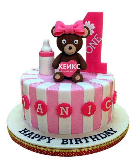 Торт для девочки на месяц и 40 дней 5