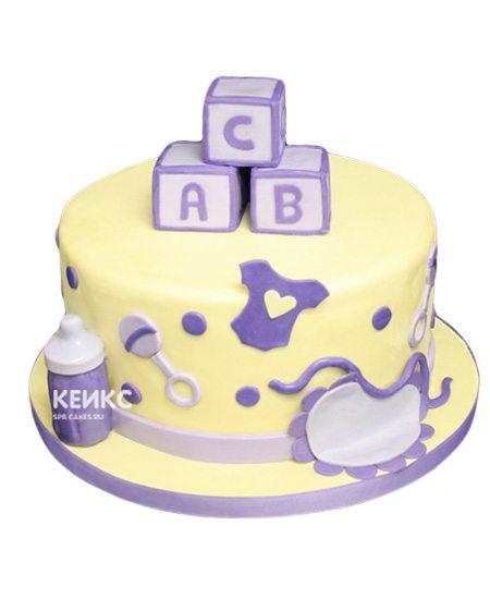 Торт для девочки на месяц и 40 дней 6
