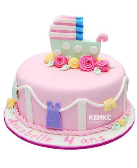 Торт для девочки на месяц и 40 дней 7