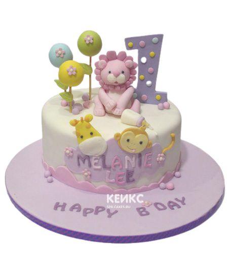 Торт для девочки на месяц и 40 дней 8