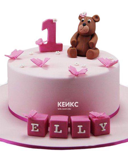Торт для девочки на месяц и 40 дней