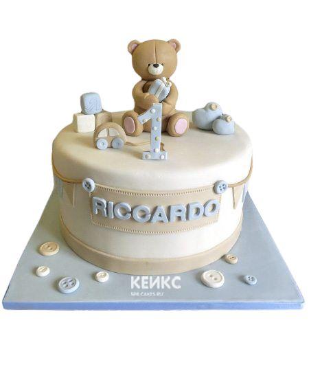 Торт для мальчика на месяц и 40 дней 10