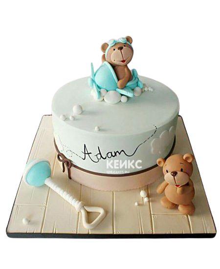 Торт для мальчика на месяц и 40 дней 2