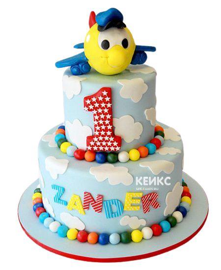 Торт для мальчика на месяц и 40 дней 6