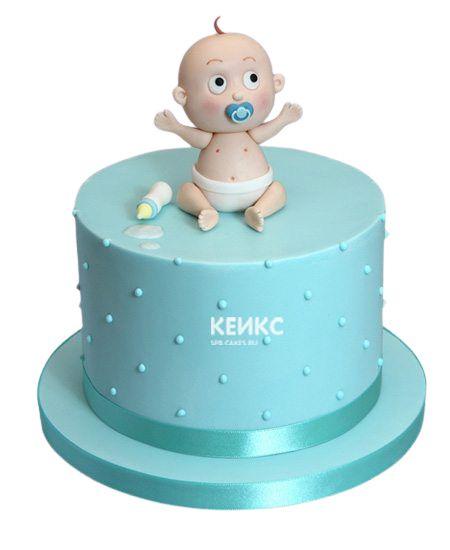 Торт для мальчика на месяц и 40 дней 7