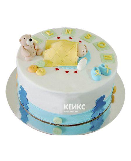 Торт для мальчика на месяц и 40 дней 9