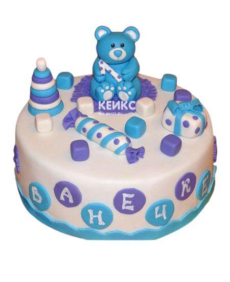 Торт для мальчика на месяц и 40 дней