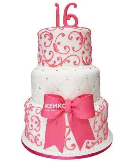Торт для девочки на 10 лет 17