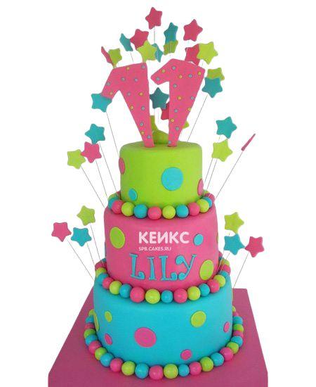 Торт для девочки на 10 лет 22