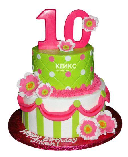 Торт для девочки на 10 лет 23