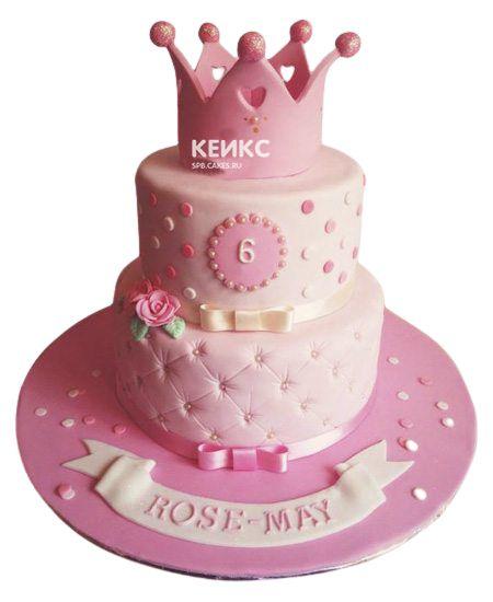 Торт для девочки на 6 лет 24