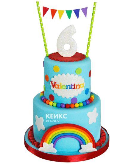Торт для девочки на 6 лет 26