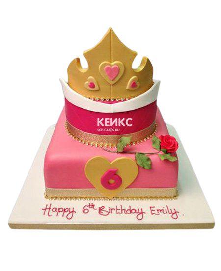Торт для девочки на 6 лет 28