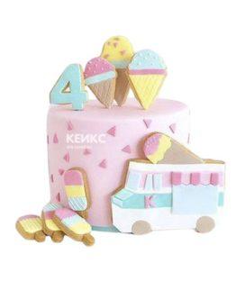 Торт на 4 года девочке 13