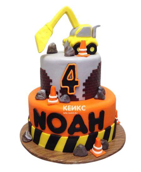 Торт на 4 года мальчику 13