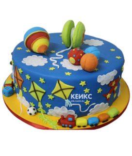Торт на 4 года мальчику 14