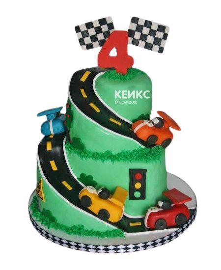 Торт на 4 года мальчику 2