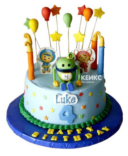 Торт на 4 года мальчику 6