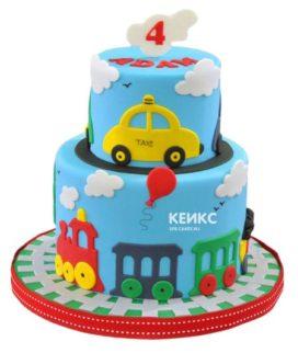 Торт на 4 года мальчику 9