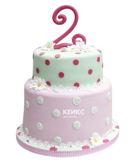 Торт на 2 года девочке 32