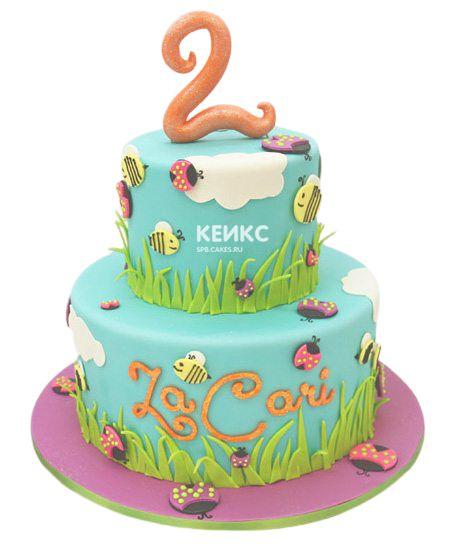 Торт на 2 года девочке 33