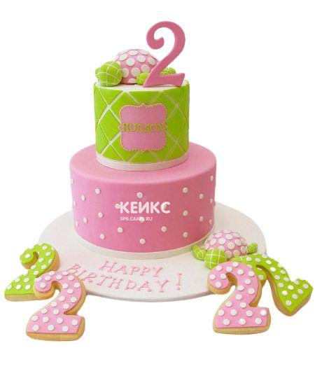 Торт на 2 года девочке 34