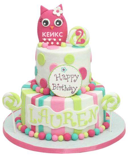 Торт на 2 года девочке 36