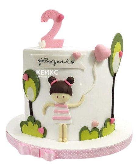 Торт на 2 года девочке 40