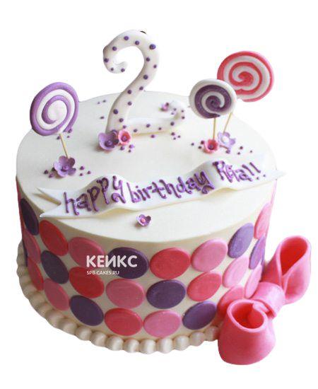 Торт на 2 года девочке 46