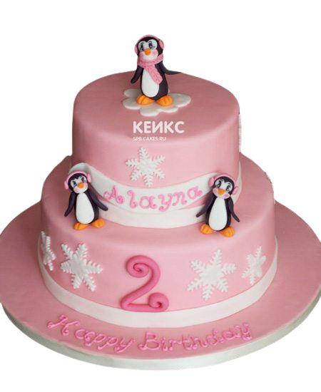 Торт на 2 года девочке 49
