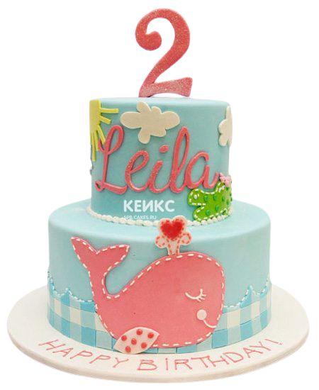 Торт на 2 года девочке 54